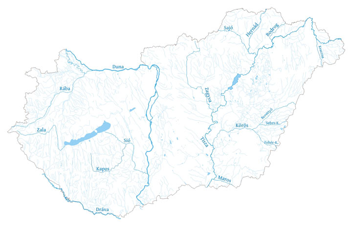 magyarország folyóvizei térkép Magyarország folyói magyarország folyóvizei térkép