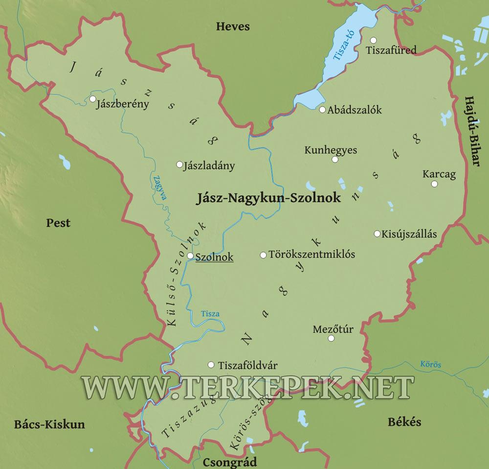 magyarország térkép mezőtúr Jász Nagykun Szolnok megye domborzati térképe magyarország térkép mezőtúr