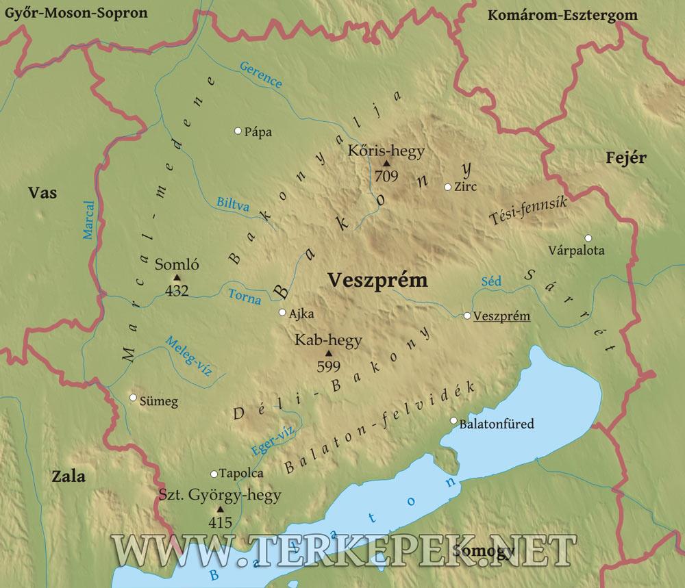 eger domborzati térkép Veszprém megye domborzati térképe eger domborzati térkép